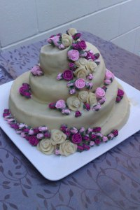 Wedding cake made on gingerbrede and marzipan